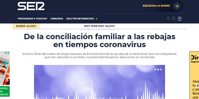 De nuevo Solgia colabora con la SER para mantener informados a los oyentes